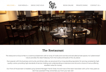 Sous Le Nez French Restaurant in Leeds