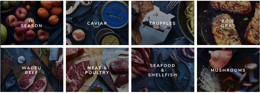 Food Online Shop Gourmet Categories