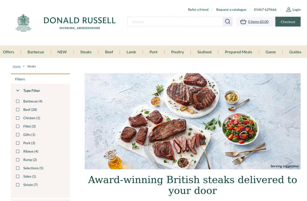 Steaks Donald Russell