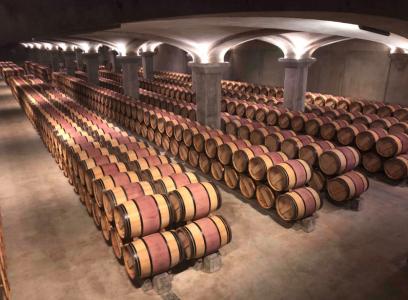 Chateau Margaux barrique barrels