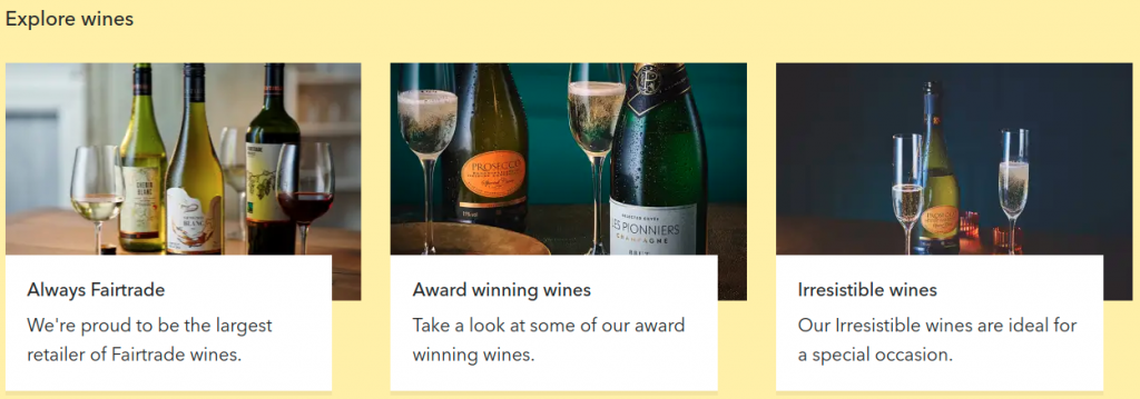 coop.co.uk online shop wine selection