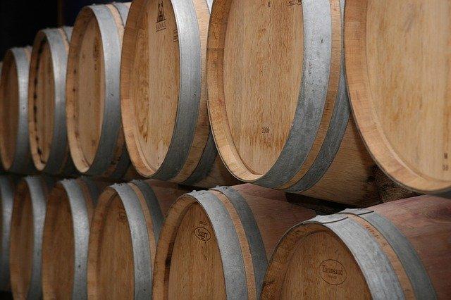 Barrique wine barrels